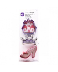 Princess Cookie cutter set 3 High Heel Castle and Crown