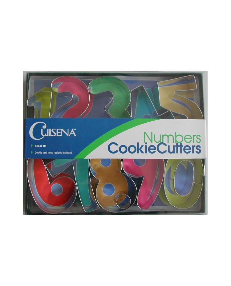 image: Numbers 0-9 cookie cutter set