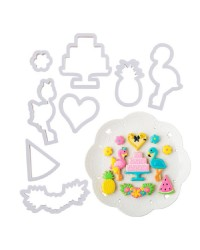 Tropical Flamingo cookie cutter set of 8