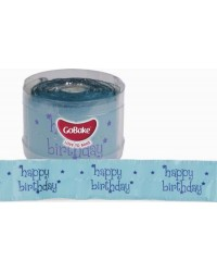 Happy Birthday BLUE Birthday cake frill 50mm wide x 1m