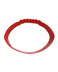 Rugby ball Football red metal cookie cutter