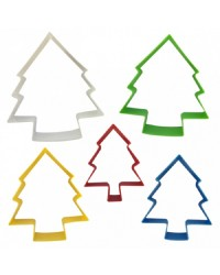 Christmas tree set of 5 Nesting cookie cutters