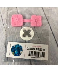 Hydrangea cutter and veiner silicone mould set