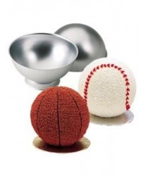 3d sports ball cake pan set Hemisphere pans with baking stands