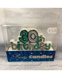 Feature candle 30th birthday