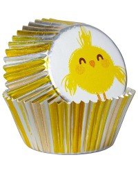 Easter Chick Foil standard cupcake papers