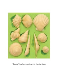 Assorted small seashells silicone mould
