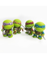 TEENAGE MUTANT NINJA TURTLES PLASTIC FIGURINES cake topper set 4