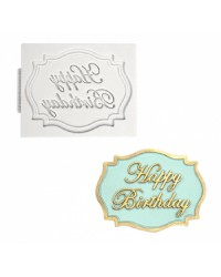 Happy Birthday silicone mould by Katy Sue Designs
