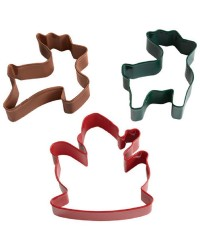 Santa and his Reindeer Cookie Cutter Set