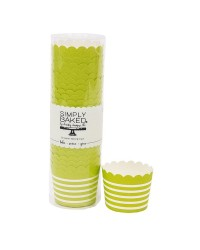 Lime Green purple straight sided cupcake papers baking cups