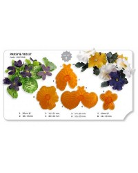 Jem Pansy and Violet flower petal and leaf cutters set