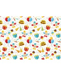 A4 Circus Clown pattern background edible image