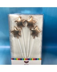 Star pick candles Long Rose Gold
