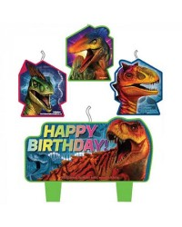 Jurassic World Birthday Candle Set 4