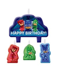 PJ Masks Birthday Candle Set 4