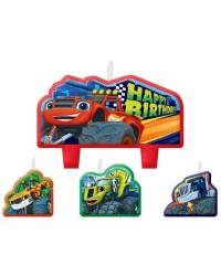 Blaze and the Monster Machines Birthday Candle Set 4