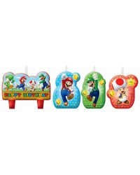 Super Mario Brothers Birthday Candle Set 4