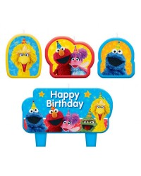 Sesame Street Birthday Candle Set 4
