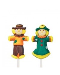 image: Scarecrow lollipop chocolate mould