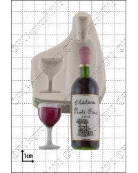 Wine glass and bottle silicone mould