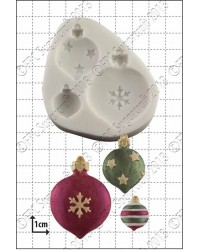 Christmas Decorations baubles silicone mould