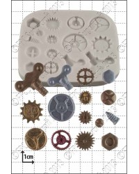 Steampunk Cogs and Gears silicone mould No 1