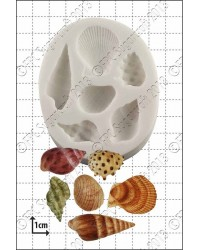 Seashells shells silicone mould