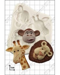 Safari animals silicone mould