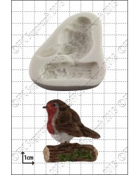 Robin Red Breast silicone mould