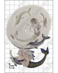 Mermaid and Dolphin silicone mould