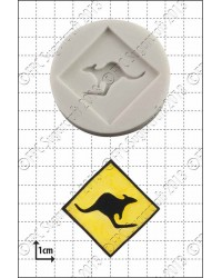 Kangaroo sign silicone mould