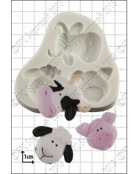 Farm animals silicone mould