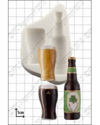 Beer bottle and ale glass silicone mould