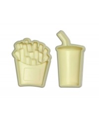 French Fries chips and soft drink POP it Cutter Mould set