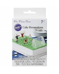 Soccer or football cake decorating topper set