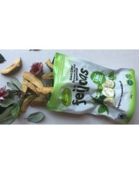 Organic freeze dried fruit Feijoa wedges