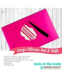 Large silicone mat and knife 60 x 40cm