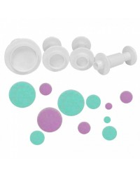 Set 4 round circle plunger cutters