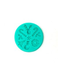 Christmas icons silicone mould