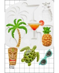 Tropical holiday silicone mould