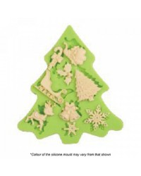 Christmas tree assortment silicone mould
