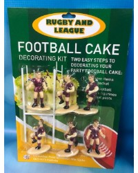 Rugby or league cake topper set Burgundy Maroon Jerseys