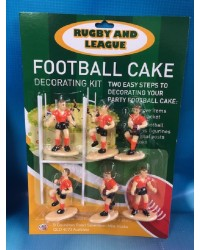 Rugby or league cake topper set Orange Jerseys