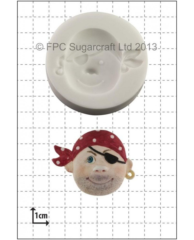 image: Pirate face #2 silicone mould