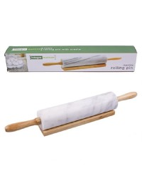 Marble rolling pin charcoal grey 46cm long
