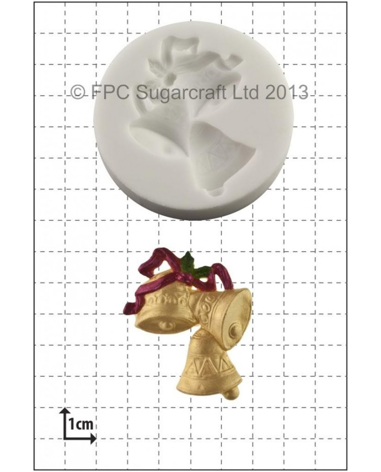 image: Christmas Bells silicone mould