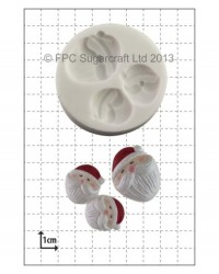 image: Mini Santa Faces silicone mould