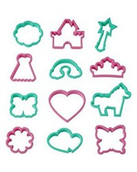 Wilton 12 cookie cutter set Girls fairytale theme
