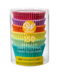 Pastel Rainbow colours standard cupcake papers 150 pack
